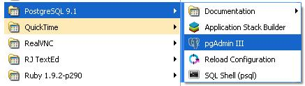 Comandos SQL - pgAdmin