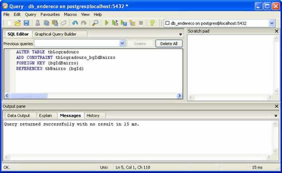 Comandos SQL - Criar chave estrangeira