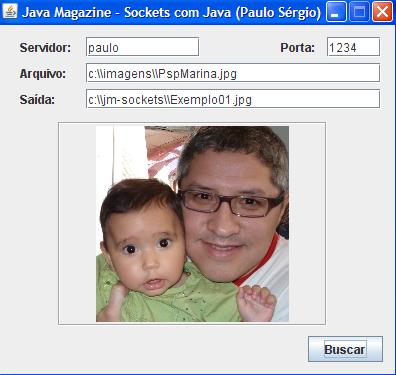 Aplica��o de exemplo que busca um arquivo JPG no servidor