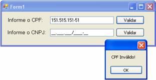 Testando a validação do CPF