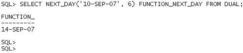 Data e Hora no Oracle - Exemplo 7