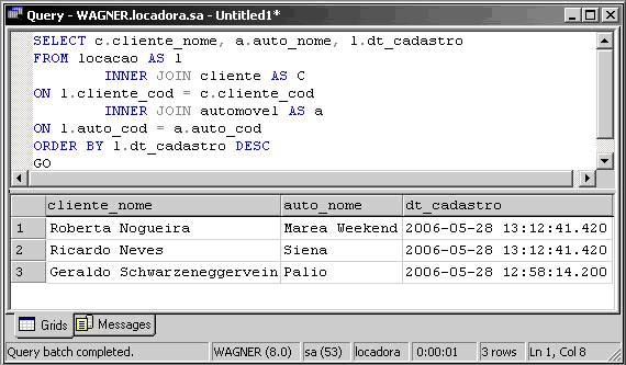 Associando tabelas no sql server - Porta sql server ...