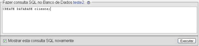 Consulta SQL no Banco de dados