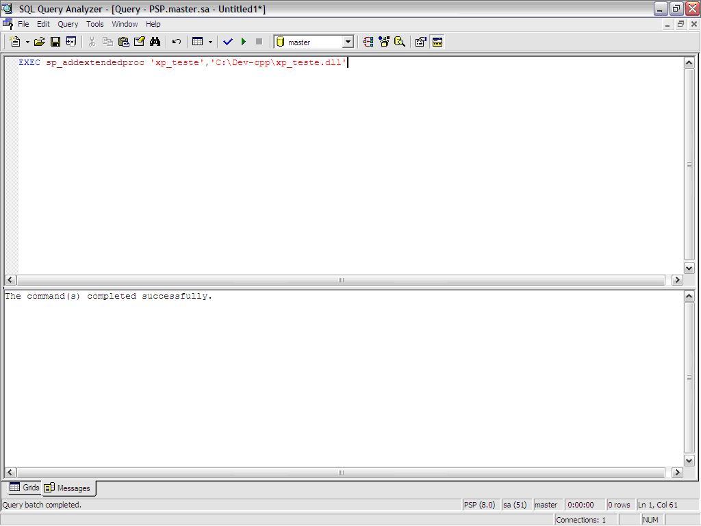 how to create extended stored procedures sql server