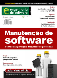 Revista Engenharia de Software 33: Manuntenção de Software