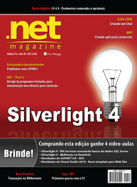 Revista .net Magazine Edi��o 74: Silverlight 4