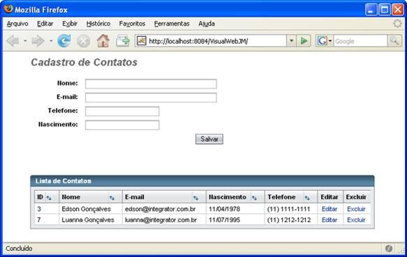 netbeans visual web jsf  integrado com spring 2 5  jpa e